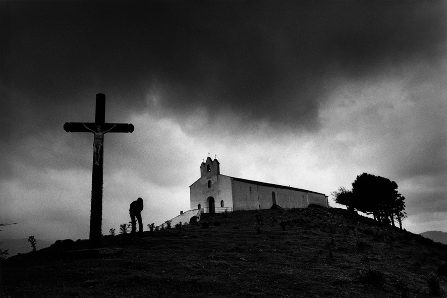 Basque country. Church on teh mountain