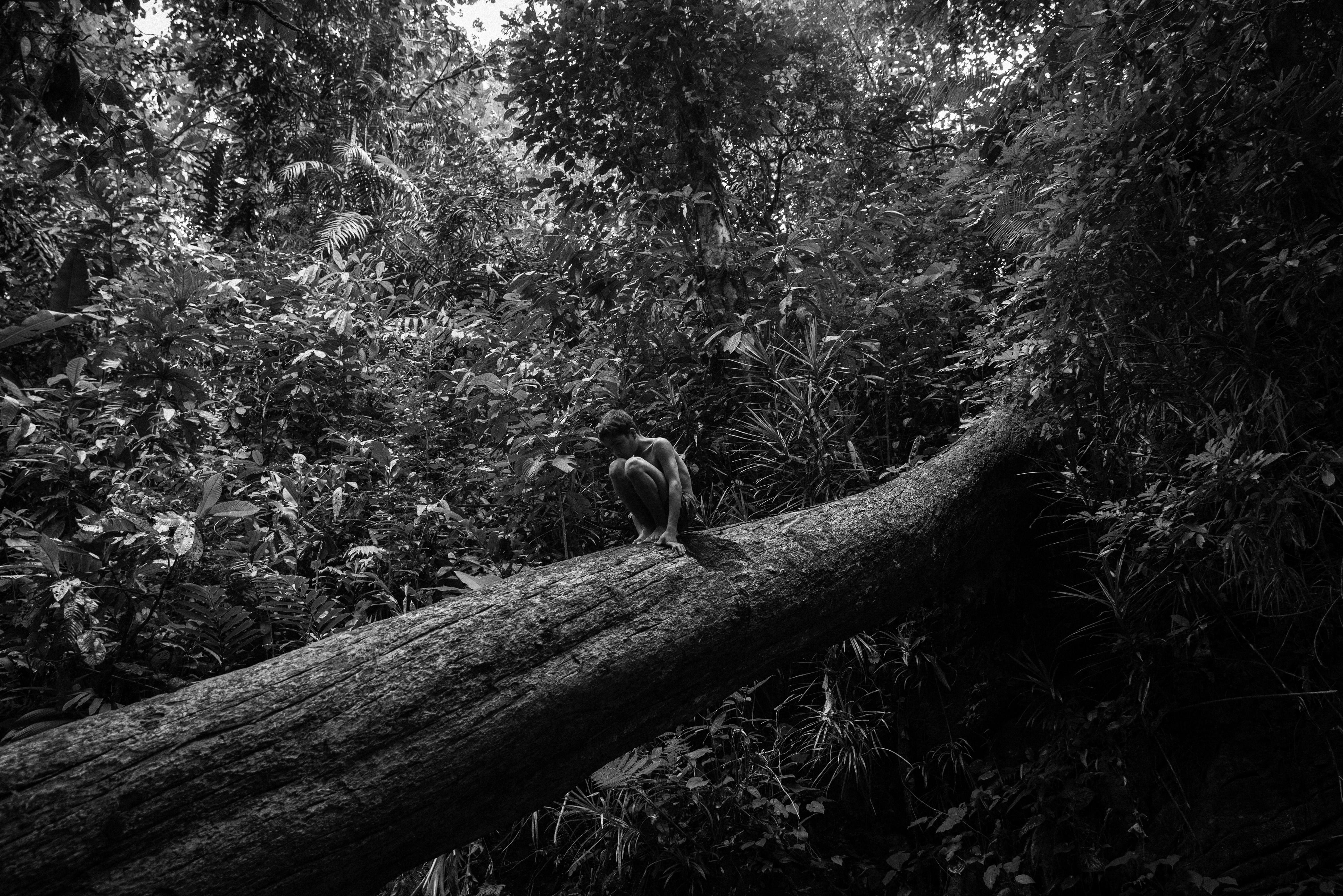 6-La-Vallée.Palawan-Philippines-Enfant-jouant-dans-les-arbres.