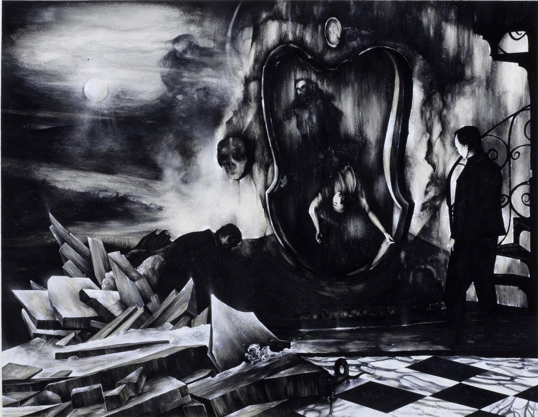 Alkis Boutlis, Sans titre, 2014, gouache sur papier, 56 x 76 cm © courtesy galerie Suzanne Tarasiève
