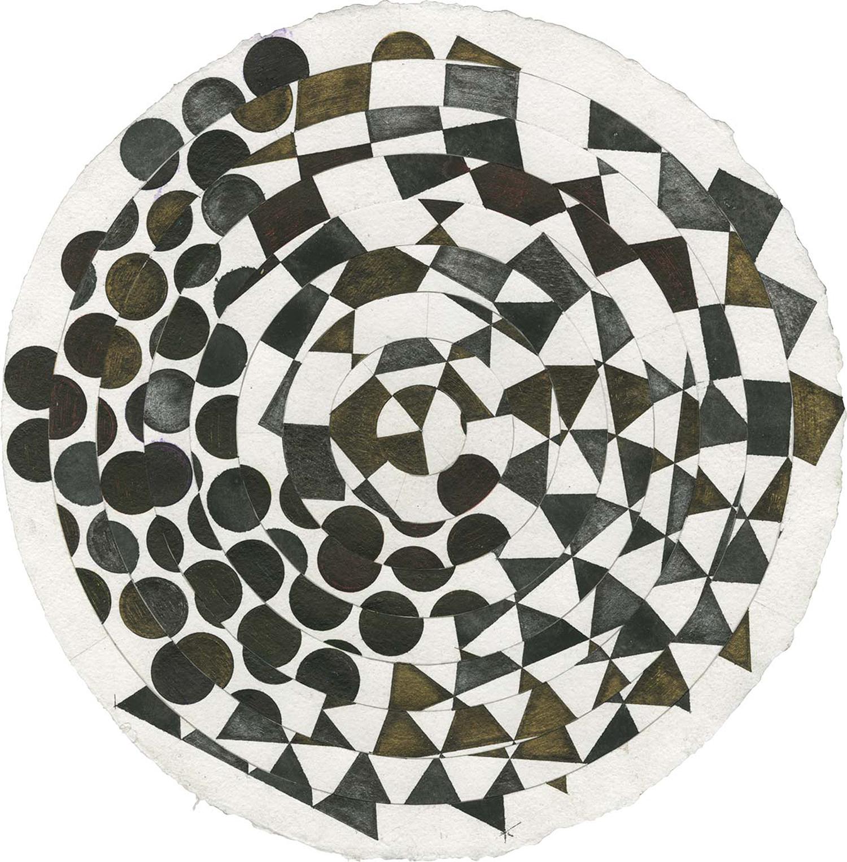 Henri Jacobs, Dessin Journal 818 (Soleil), 2016, aquarelle et encre sur papier, diamètre 35 cm © Galerie Maurits van de Laar