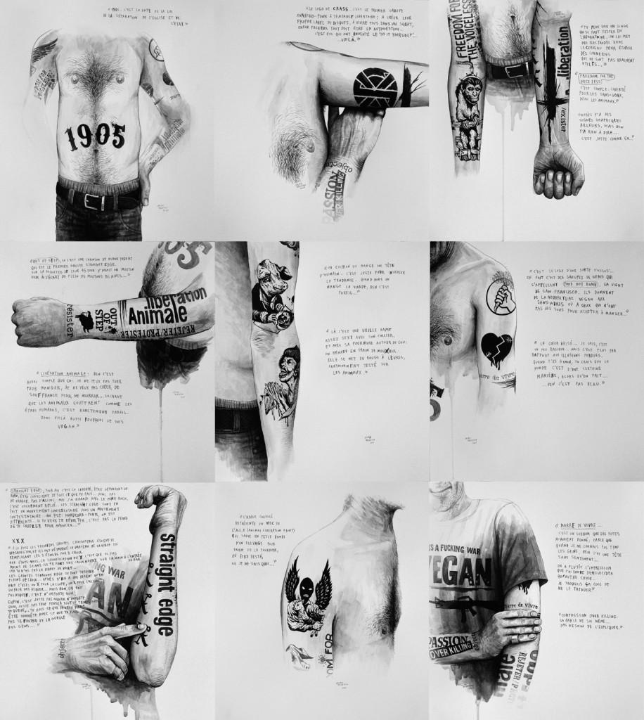 Julien-Beneyton-Marre-de-Vivre-série-2009-acrylique-sur-papier-9-x-34-x-31-cm-collection-particulière-courtesy-Lily-Robert-916×1024