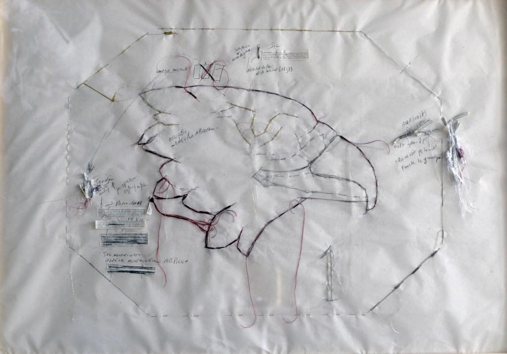 Myriam-Mihindou-Langue-secouée-2014-2015-fil-de-soie-coton-papier-Japon-étymologies-aiguille-70-x-100-cm-courtesy-Galerie-Maïa-Muller-Paris-1024×715