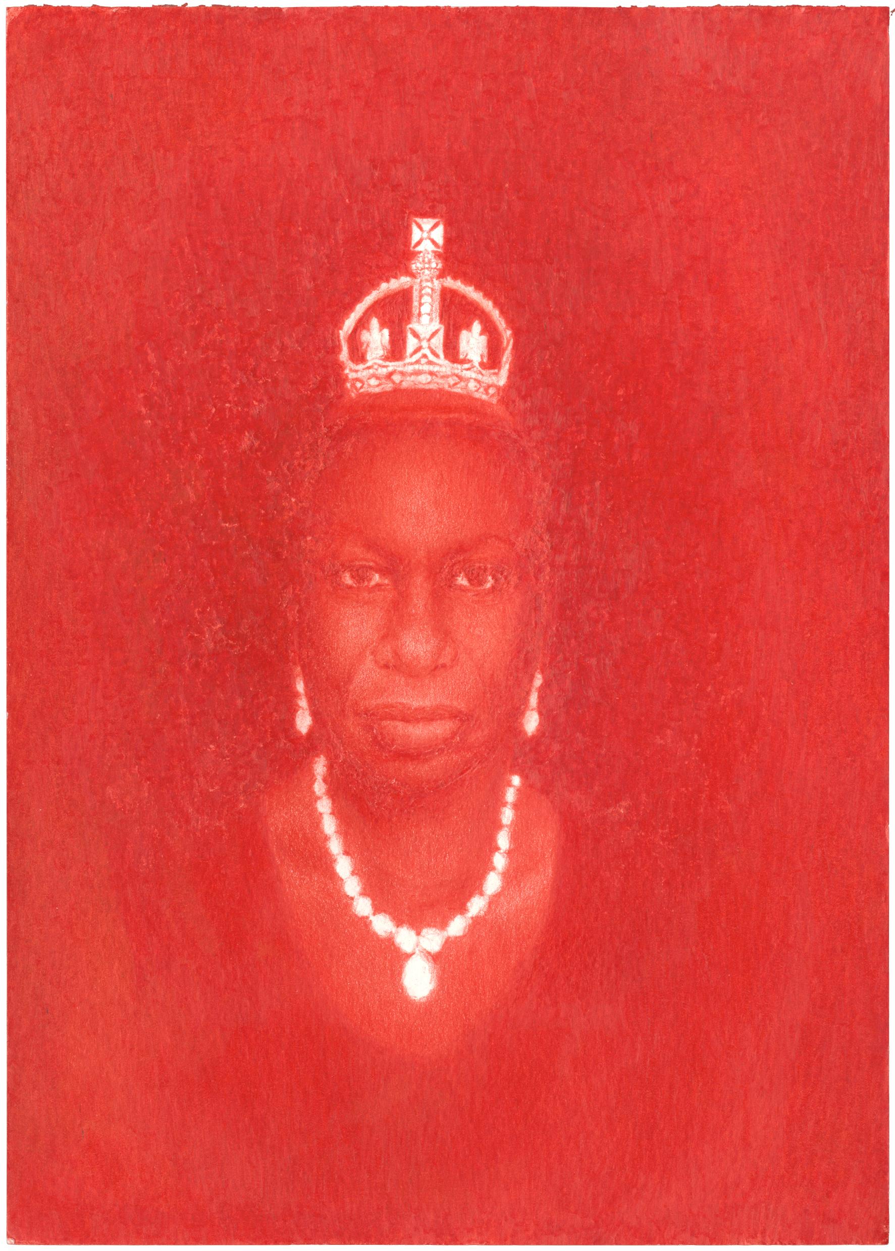 Pedro A.H. Paixão, Petite Couronne de Diamant (Nina Simone in memoriam), 2015, crayons de couleur sur papier, 20,9 x 14,8 cm, courtesy galeria 111