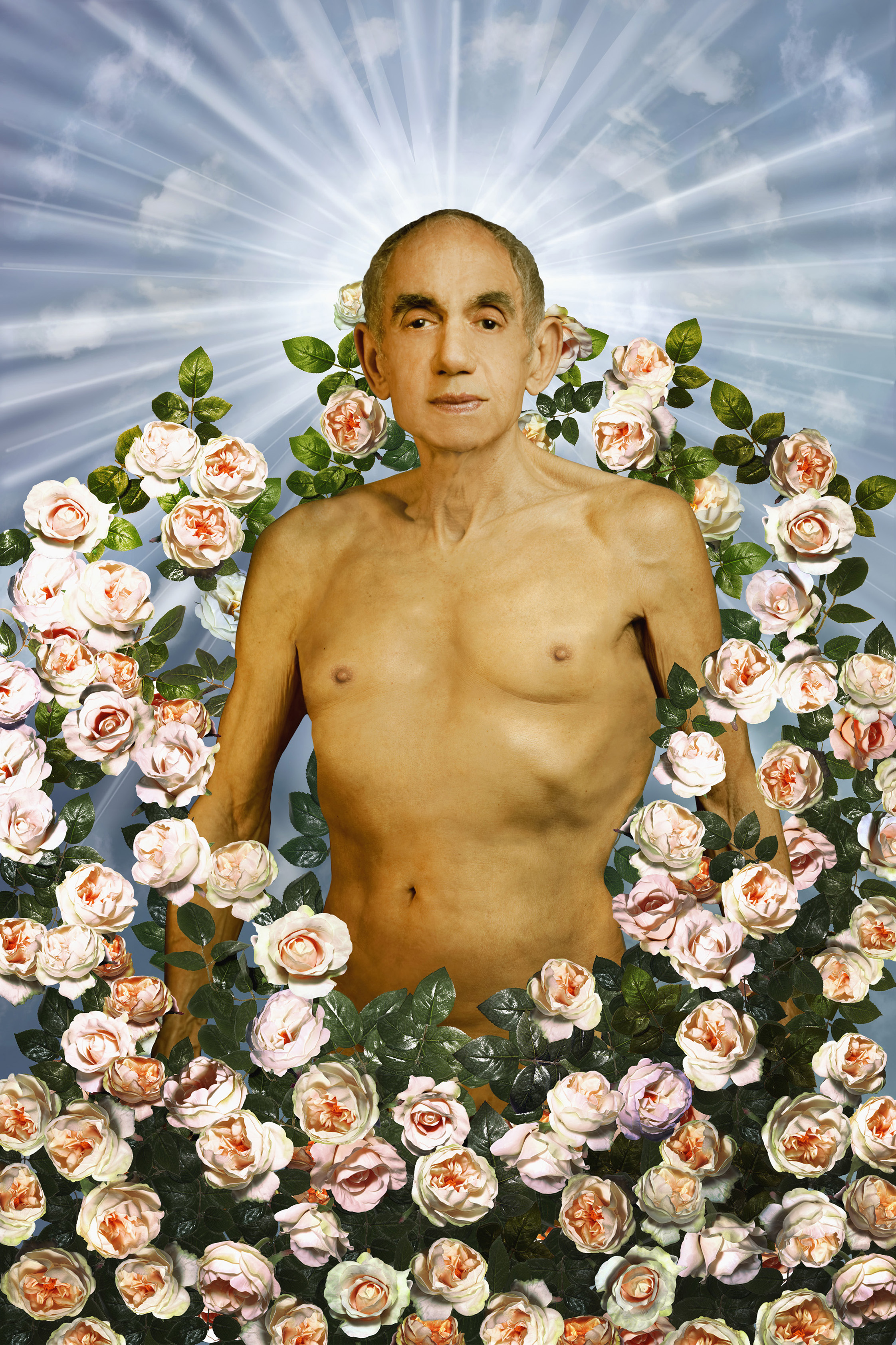 Hommage à Pierre et Gilles, La tentation d'Adam, 1996, série Looking for the Masters in Ricardo's golden shoes © Catherine Balet, 2014. Courtesy galerie Thierry Bigaignon