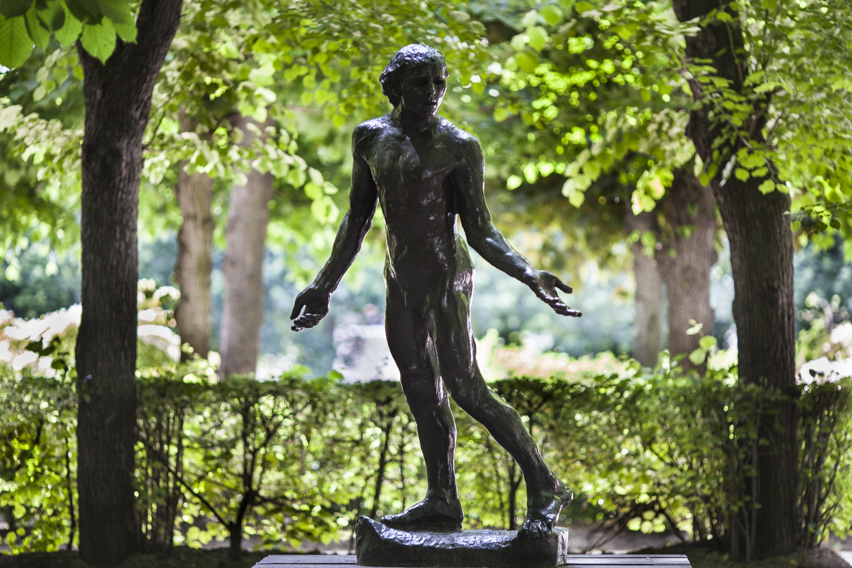 Auguste Rodin, Bourgeois de Calais, Jean de Fiennes nu, bronze, 1887, H. : 202 cm ; L. : 115 cm ; P. : 70 cm, S.627, © Musée Rodin, Alexis Berg