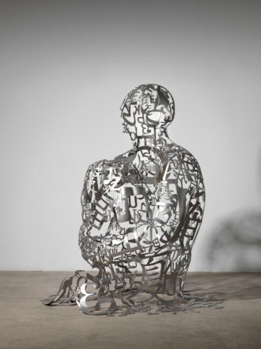JAUME PLENSA,  Sinfin II 2016 Copyright Jaume Plensa courtesy Galerie Lelong & Co. Paris 169 x 146 x 144 cm Acier inoxydable Artwork exhibited by : Lelong & Co.
