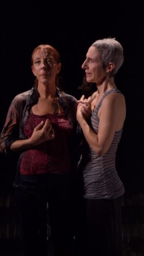 BILL  VIOLA,  Two Women 2008 Kukje Gallery and Tina Kim Gallery 37″ plasma screen, 81.8 x 46 cm Color high-definition video on plasma display mounted on wall, 9:56 minutes Artwork exhibited by : Kukje Gallery / Tina Kim Gallery