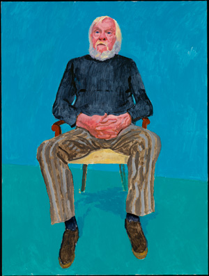 David Hockney John Baldessari, 13, 16 décembre 2013 (John Baldessari, 13th, 16th December 2013) appartenant à 82 portraits et 1 nature morte Acrylique sur toile (d'une série de 82) 121,92 x 91,44 cm © David Hockney Crédit photo : Richard Schmidt