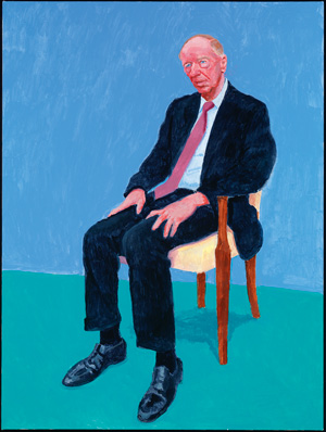 David Hockney Jacob Rothschild, 5, 6 février 2014 (Jacob Rothschild, 5th, 6th February 2014) appartenant à 82 portraits et 1 nature morte Acrylique sur toile (d'une série de 82) 121,92 x 91,44 cm © David Hockney Crédit photo : Richard Schmidt