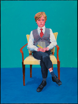 David Hockney Rufus Hale, 23, 24, 25 novembre 2015 (Rufus Hale, 23rd, 24th, 25th November 2015) appartenant à 82 portraits et 1 nature morte Acrylique sur toile (d'une série de 82) 121,92 x 91,44 cm © David Hockney Crédit photo : Richard Schmidt