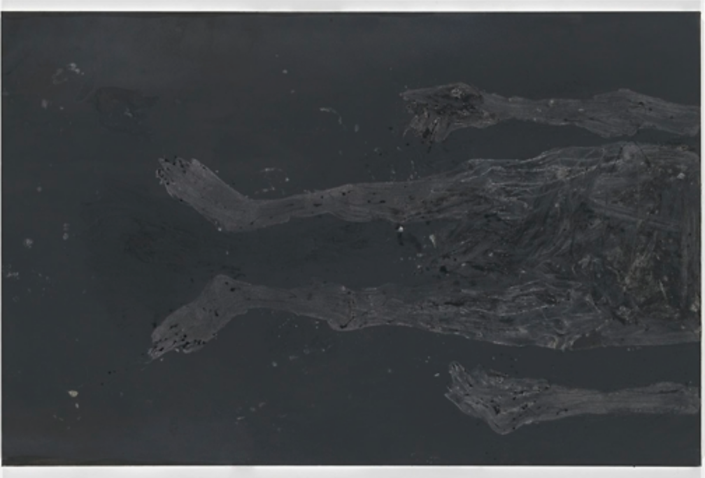 Georg Baselitz, Aufrecht oder nicht? 2015 Oil on canvas 195 x 300 cm (76,77 x 118,11 in)