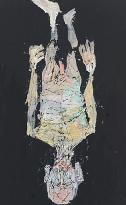 GEORG BASELITZ SÉLECTION D'OEUVRES BIOGRAPHIE EXPOSITIONS PUBLICATIONS ACTUALITÉ VIDÉOS PRESSE  Davongehen, weggehen, abgehen 2015 Oil on canvas 305 x 209 cm (120,08 x 82,28 in) 0/7  tre dite 2010 Oil on canvas 270 x 207 cm (106.3 x 81.5 in) 1/7  Bündel 2015 Bronze 147 x 70 x 81 cm 2/7  Aufrecht oder nicht? 2015 Oil on canvas 195 x 300 cm (76,77 x 118,11 in) 3/7  Volk Ding Zero – Folk Thing Zero 2009 Bronze patinated, oilpaint 306 x 120 x 130 cm (120.47 x 47.24 x 51.18 in) 4/7  Avignon die Treppe runter 2014 Oil on canvas 480 x 300 cm (188,98 x 118,11 in)