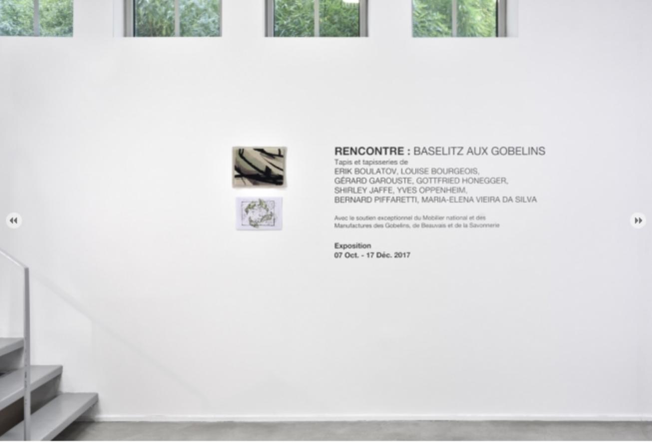vue de l'exposition Baselitz Chez Suzanne Tarasiève