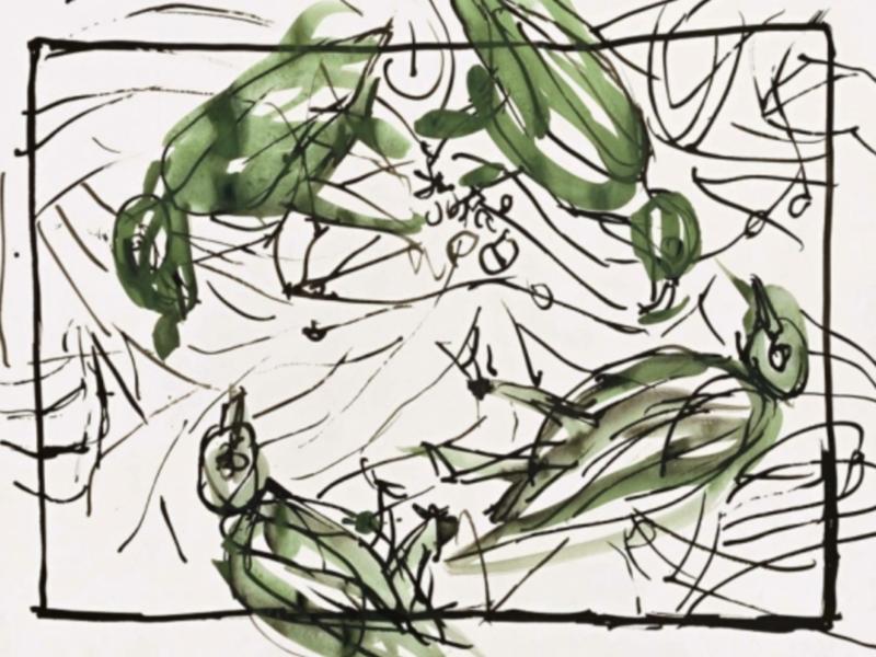 Georg Baselitz présente une tapisserie à l'espace de Suzanne Tarasiève dans le 19è à Paris. Retour sur le parcours de l'immense artiste allemand.