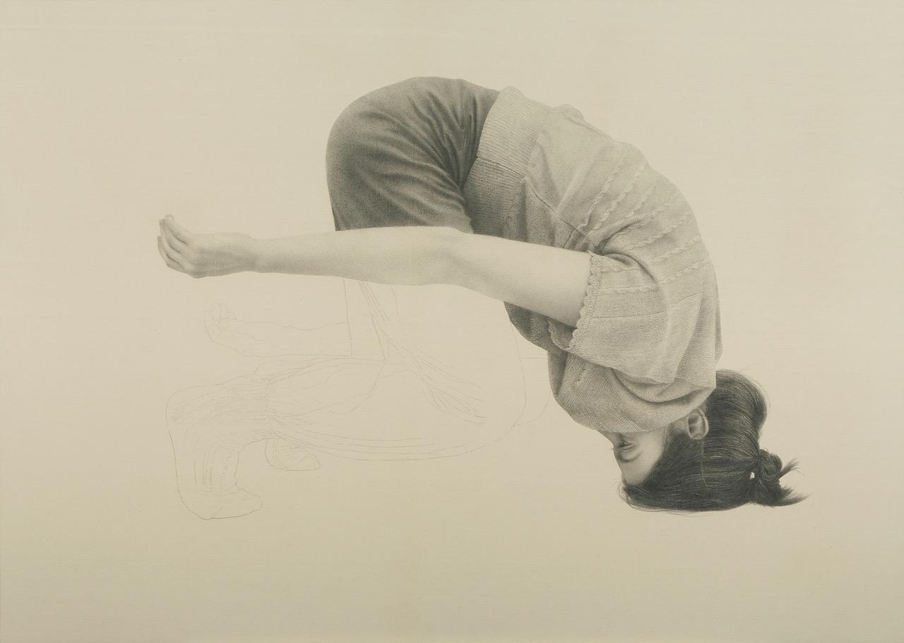 Alfredo Barsuglia, Jasmin, 2014_Crayon sur toile, 105 x 147 cm © l'artiste