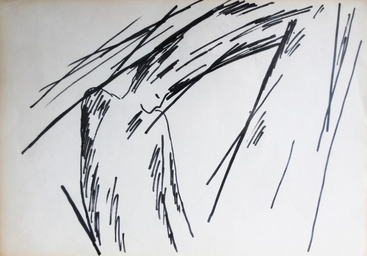 Helena Almeida, Sans titre_Dessin sur papier, 21 x 29 cm © Galerie Filomena Soares