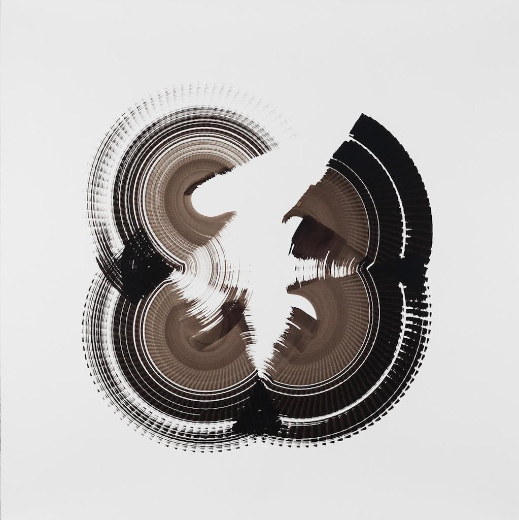 Jan Schmidt, Untitled (1), 2015_Encre de Chine sur papier, 153 x 153 cm © Jan Schmidt, Courtesy Galerie Anita Beckers