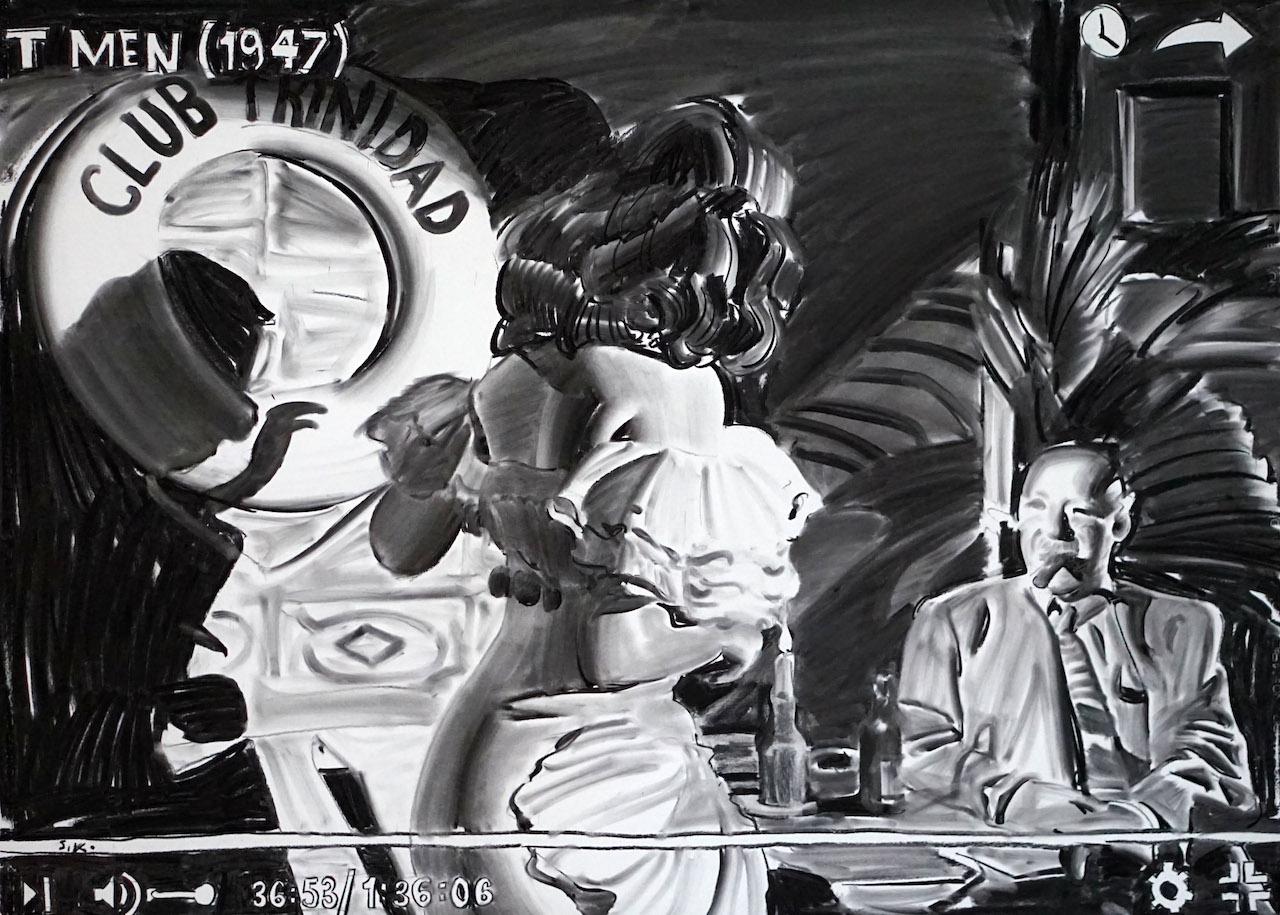 Sam Kaprielov, Art Noir 119, 2017_Oeuvre sur papier, fusain, 100 x 150 cm