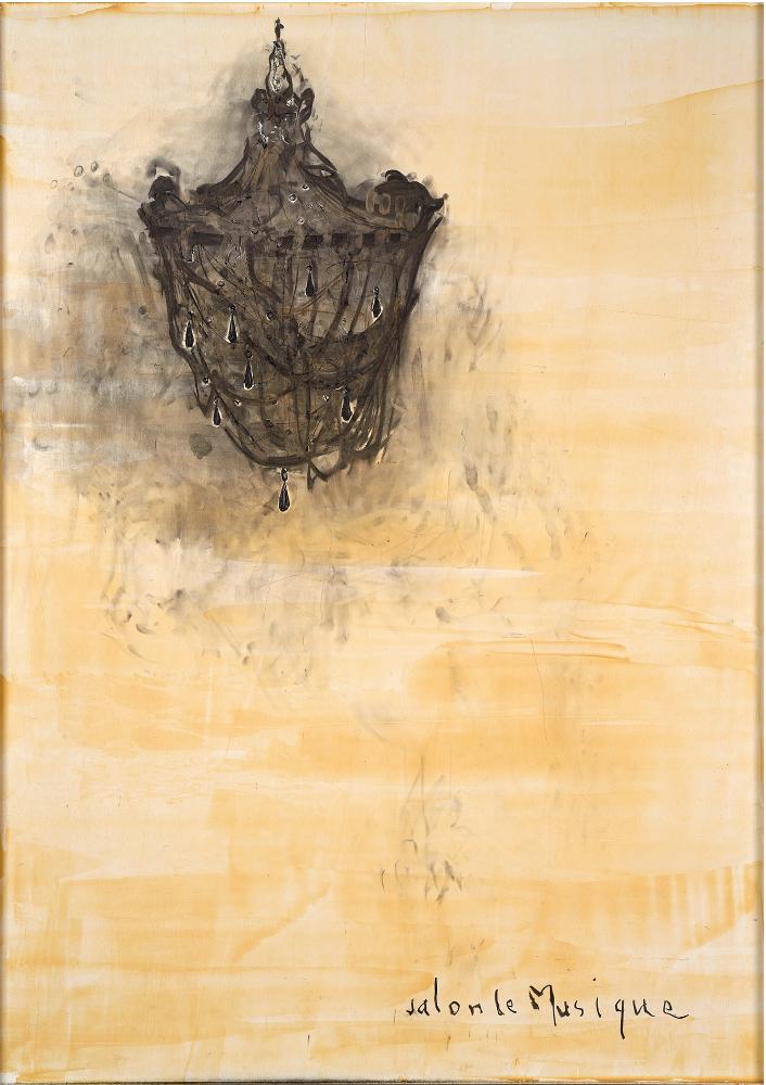 Piero PIZZI- CANNELLA PIZZI Salon-de-Musique-2014 techniques-mixtes-sur-panneau 142-x-102cm, courtesy Galerie Vidal-Bertoux Art Contemporain