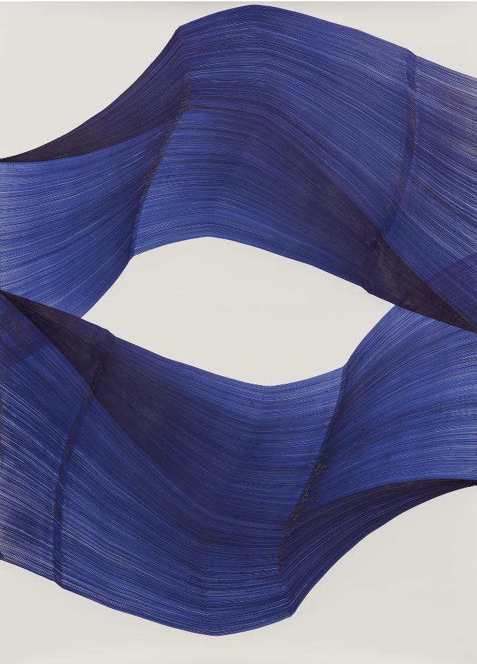 Thomas MÜLLER Sans titre, 2016, stylo bille sur Arches, 160 x 115 cm, Galerie Vidal-Bertoux Art Contemporain