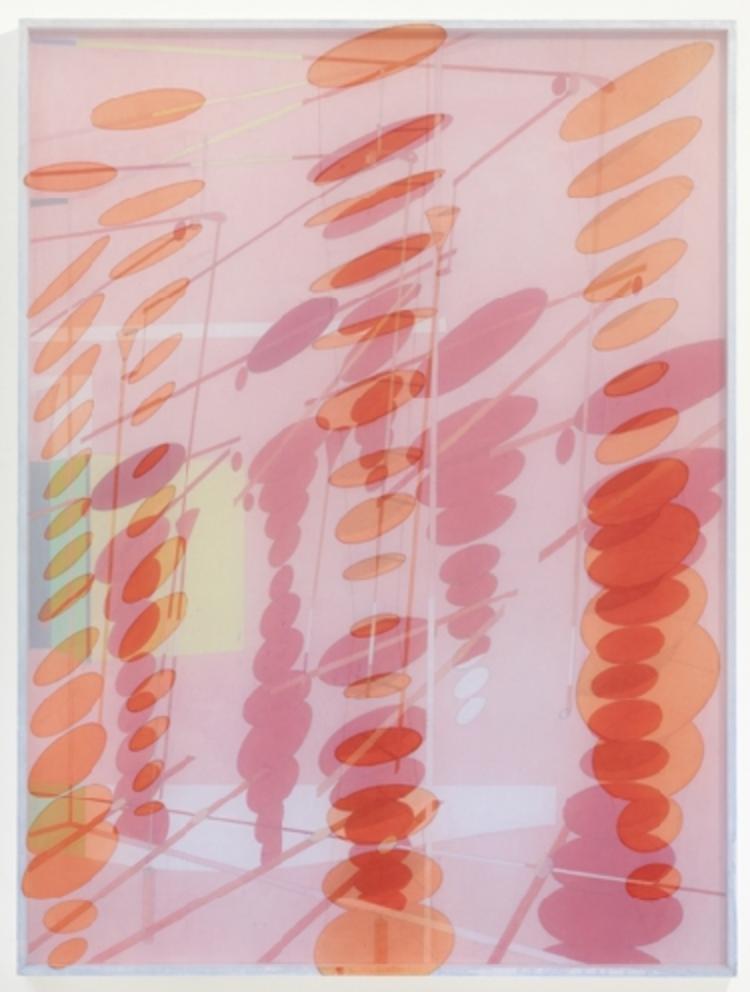 Bernard Moninot, Antichambre IV, 2012 acrylique sur soie, carton contrecollé sur bois de peuplier, 101 x 77 x 4 cm (39.8 x 30.3 x 1.6 in.), Bernard Moninot.
