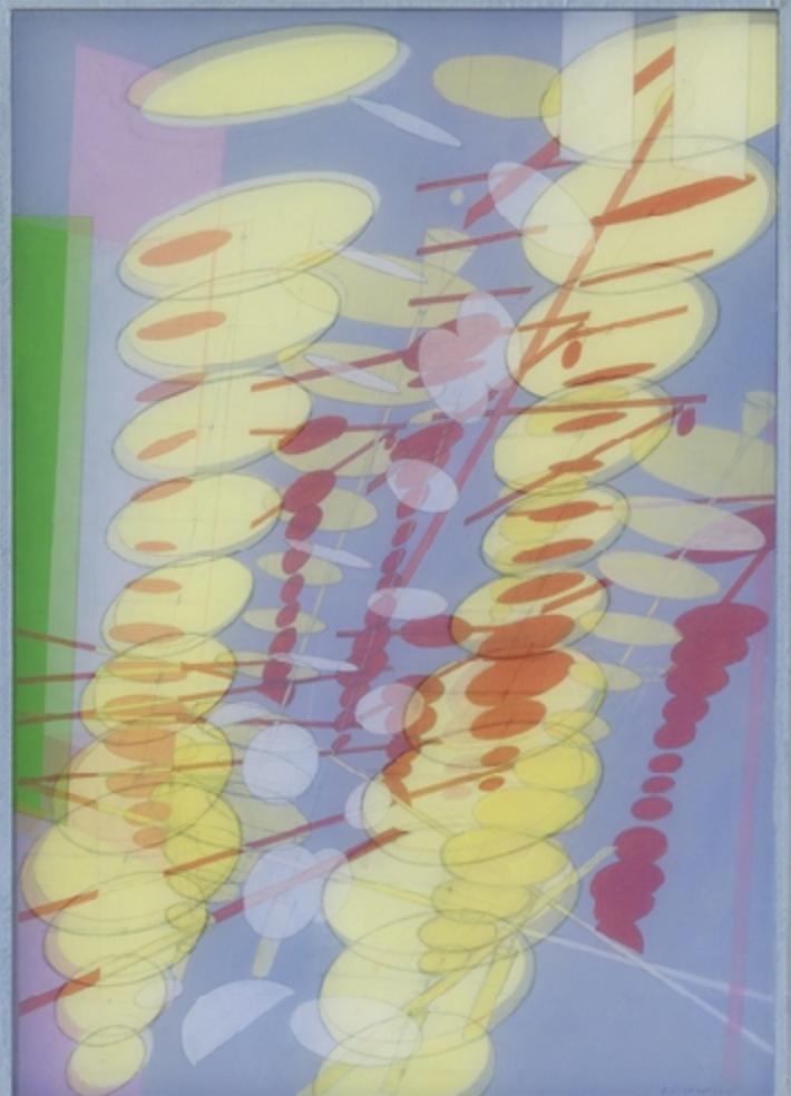 Bernard Moninot, Antichambre 8, 2013 acrylique sur sois et papier marouflé sur bois, 41 x 29 x 2 cm (16.1 x 11.4 x 0.8 in.)
