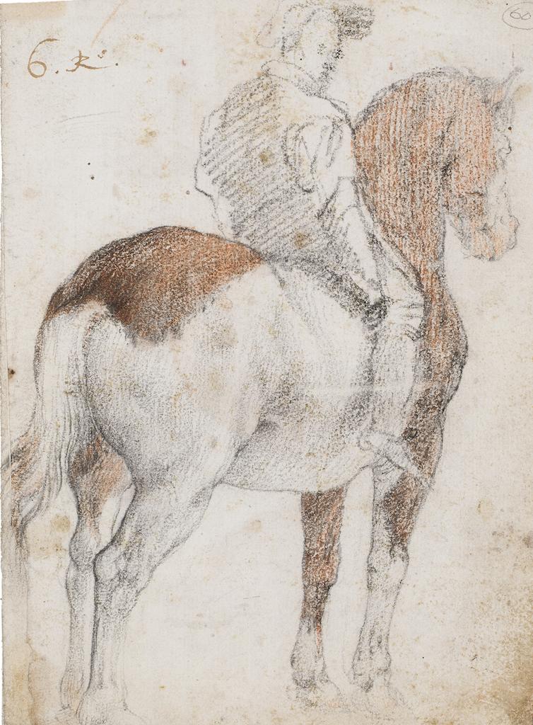 Federico Zuccaro Cavalier Pierre noire et sanguine 190×144 mm Artur Ramon Art