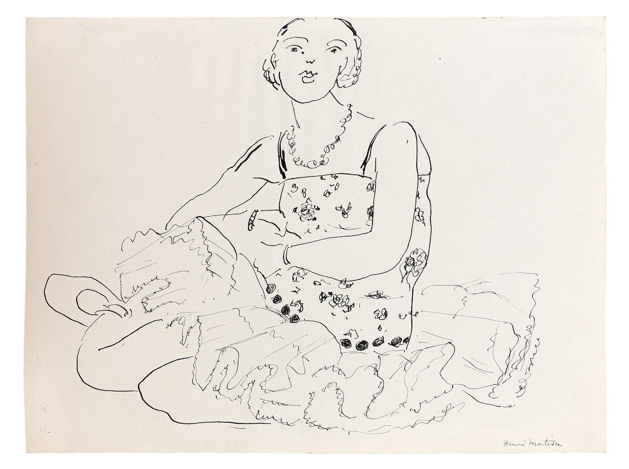Henri Matisse Femme assise crayon et encre sur papier 206×281 mm Jill Newhouse