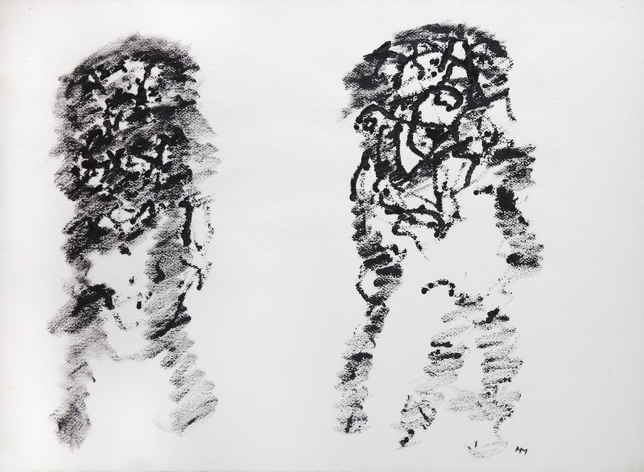 Peinture sur papier – 1967 – 56 x 75 cm