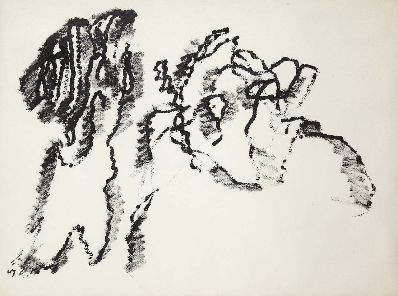 Peinture sur papier-1968- 56 x 75 cm (2)