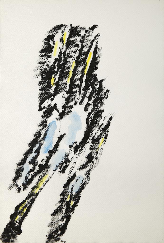 Peinture sur papier-1973- 56 x 38 cm