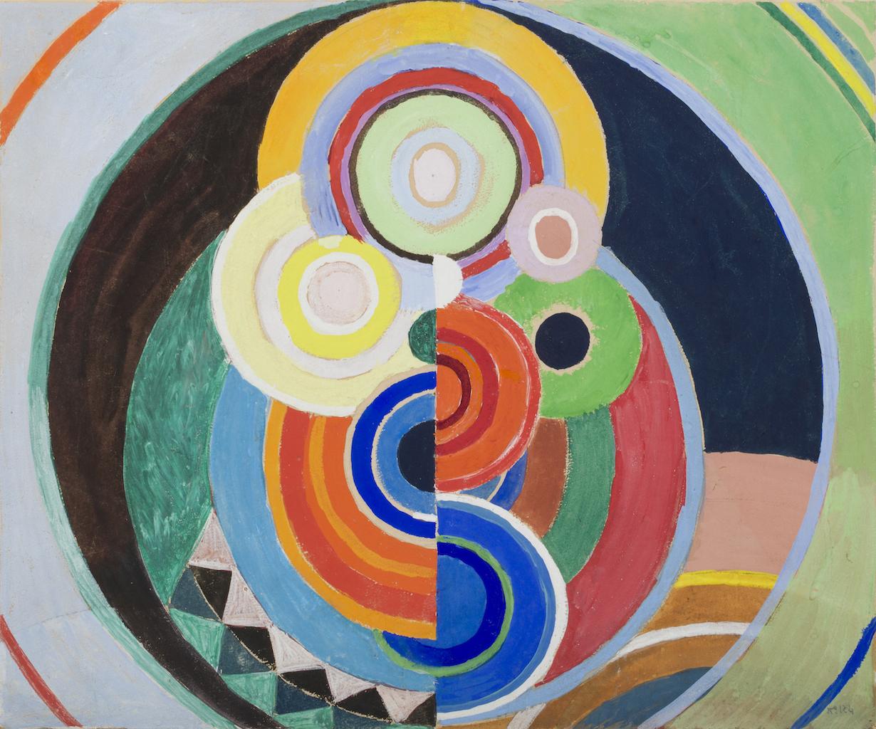 Sonia Delaunay Rythme colorÇ, projet pour le grand panneau exposÇ aux Tuileries en 1938-39, gouache et crayon sur papier 39×46,5cm BRAME ET LORENCEAU