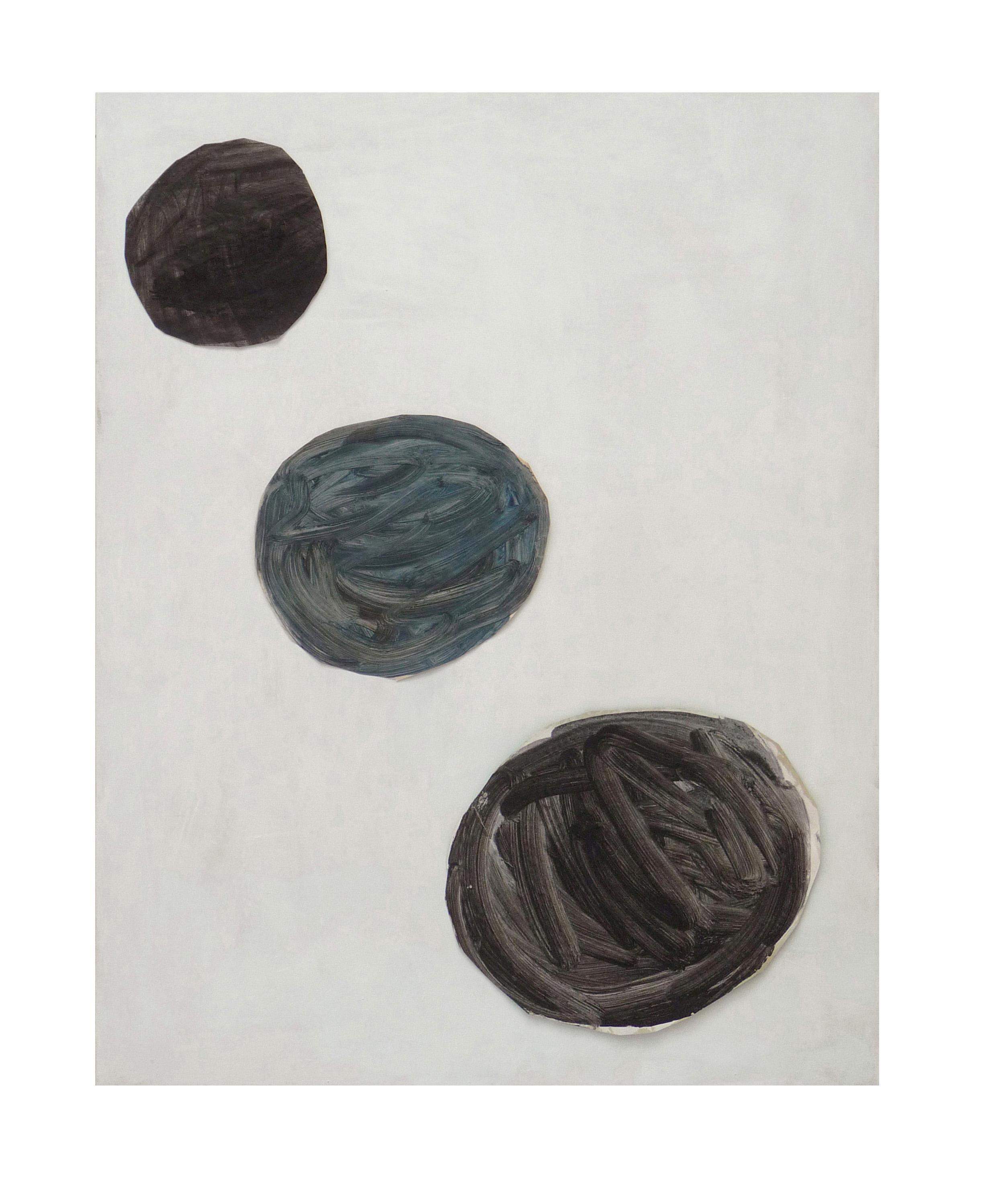 Marie Claude Bugeaud, galerie Berthet-Aittouarès, le Gilles de W-2017,acryl et papiers collés sur toile,146x114cm