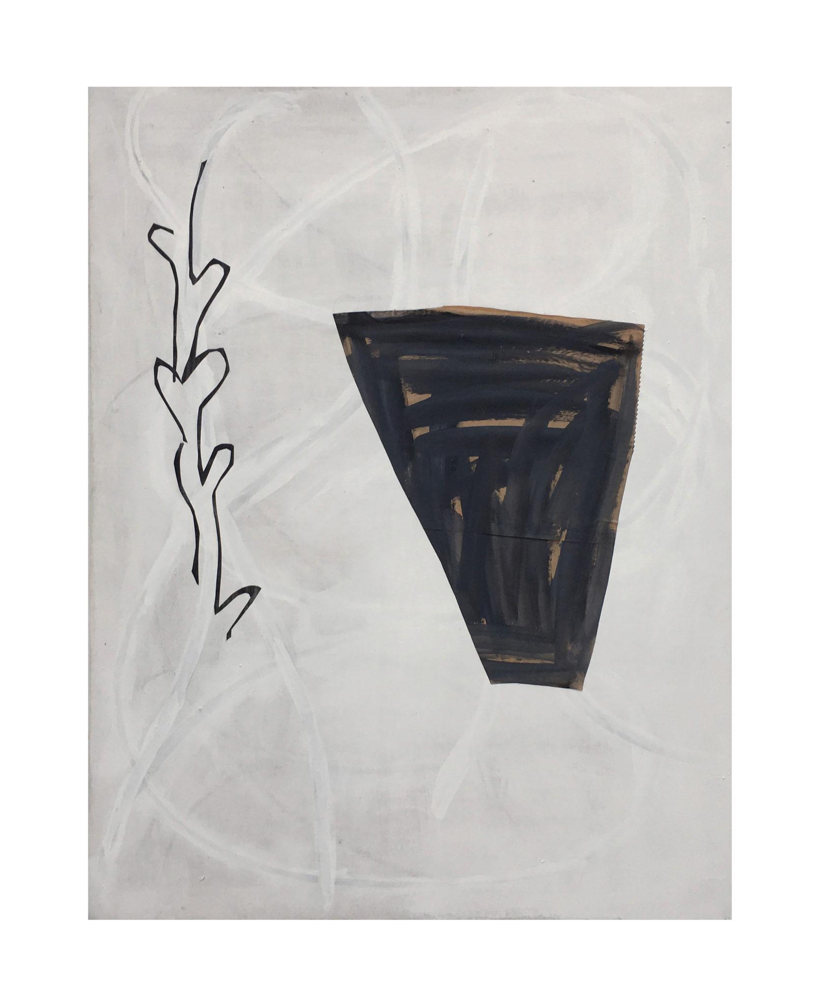 Marie Claude Bugeaud, galerie Berthet-Aittouarès, papiers retrouvés-2017,acryl,huile et papiers collés sur toile,116x89cm