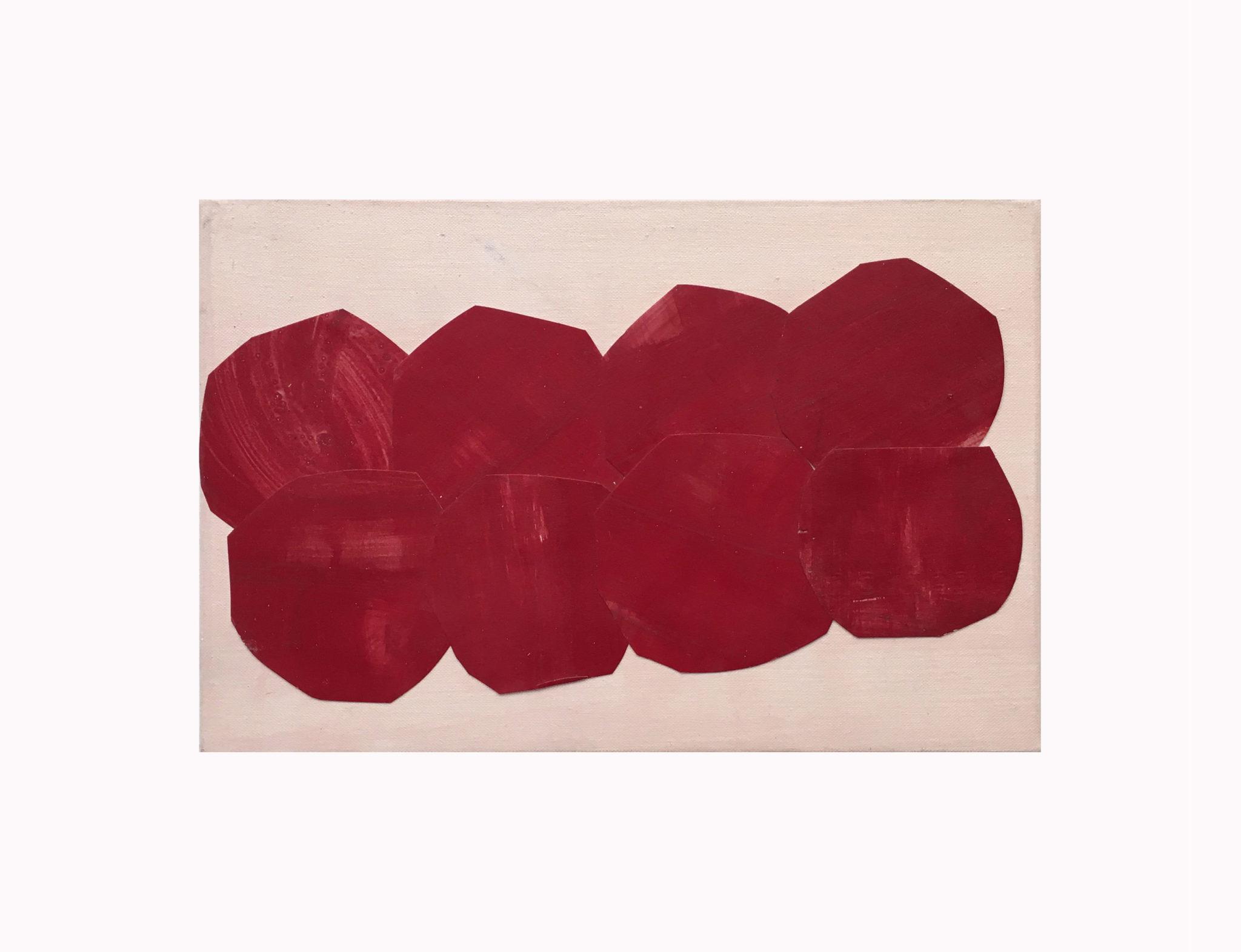 Marie Claude Bugeaud, galerie Berthet-Aittouarès,-encore-2005,acryl et papiers collés,16x24cm