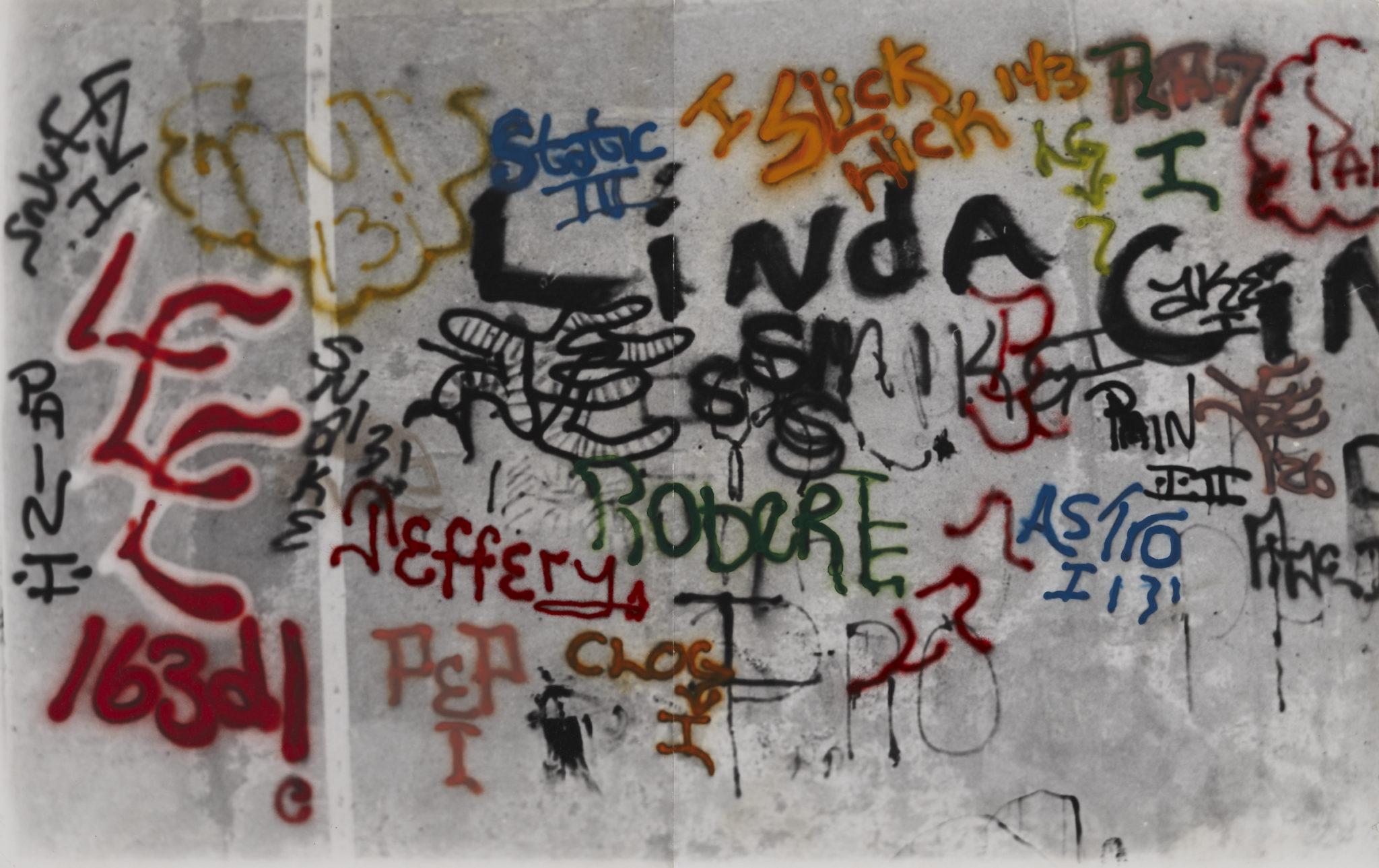 Gordon Matta-Clark Graffiti: Linda, 1973. Courtesy The Estate of Gordon Matta-Clark et David Zwirner, New York / Londres / Hong Kong. © 2018 The Estate of Gordon Matta-Clark / ADAGP, Paris