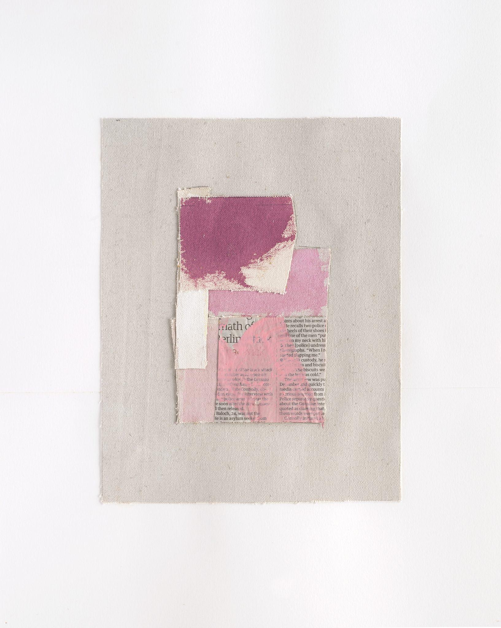 Peter Joseph Study 2017 Acrylique sur toiles et papier journal 43,5 x 33 cm_7226