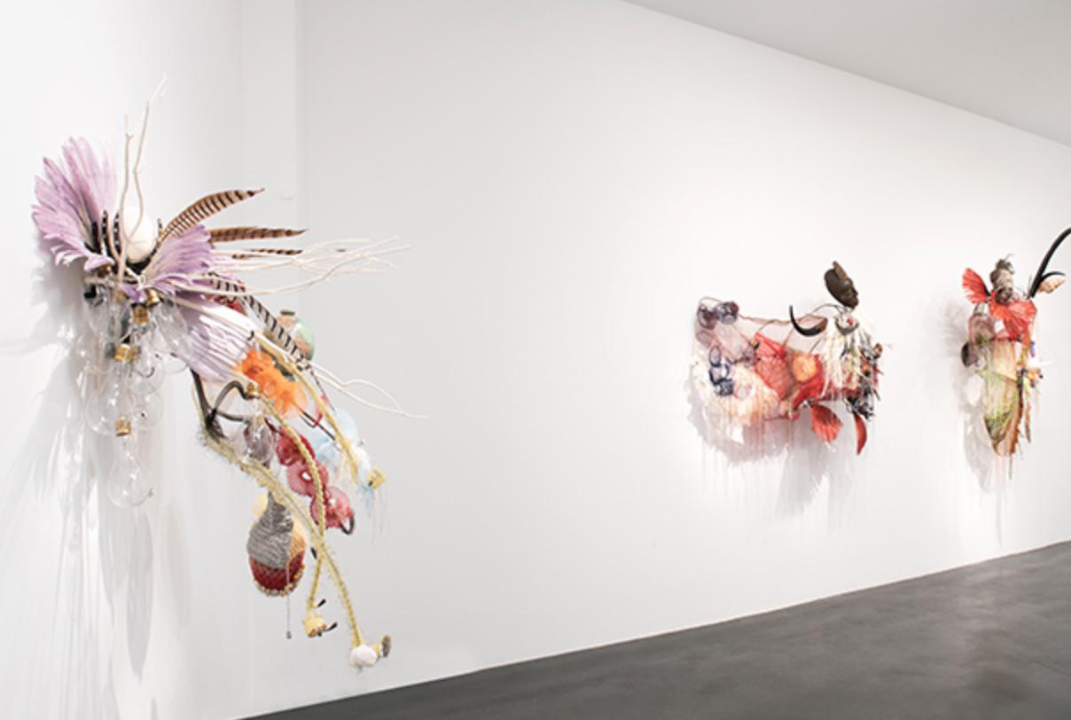 Vue de l'exposition Rina Banerjee