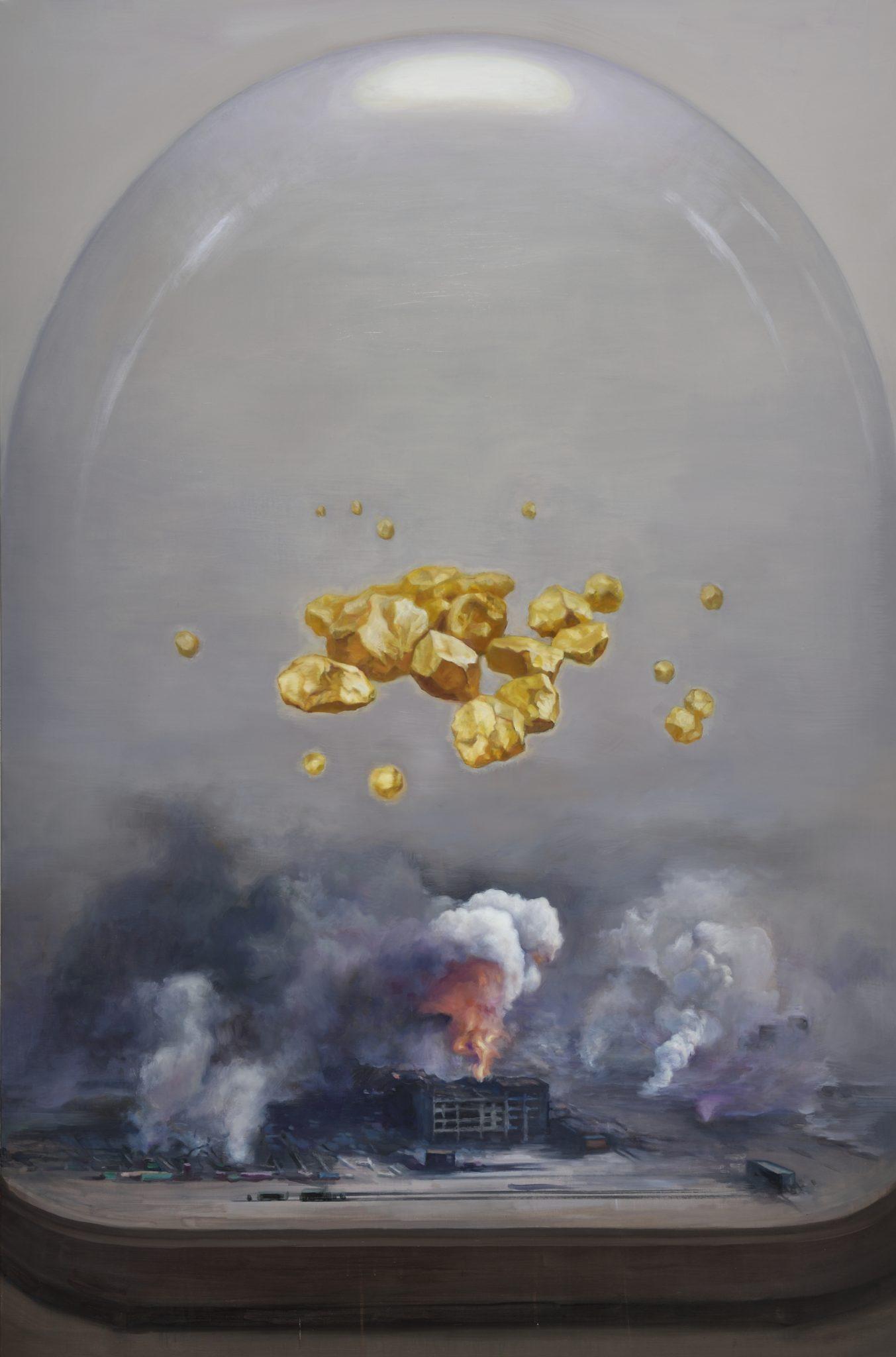 人灾,2015,油画,146 x 97 cm