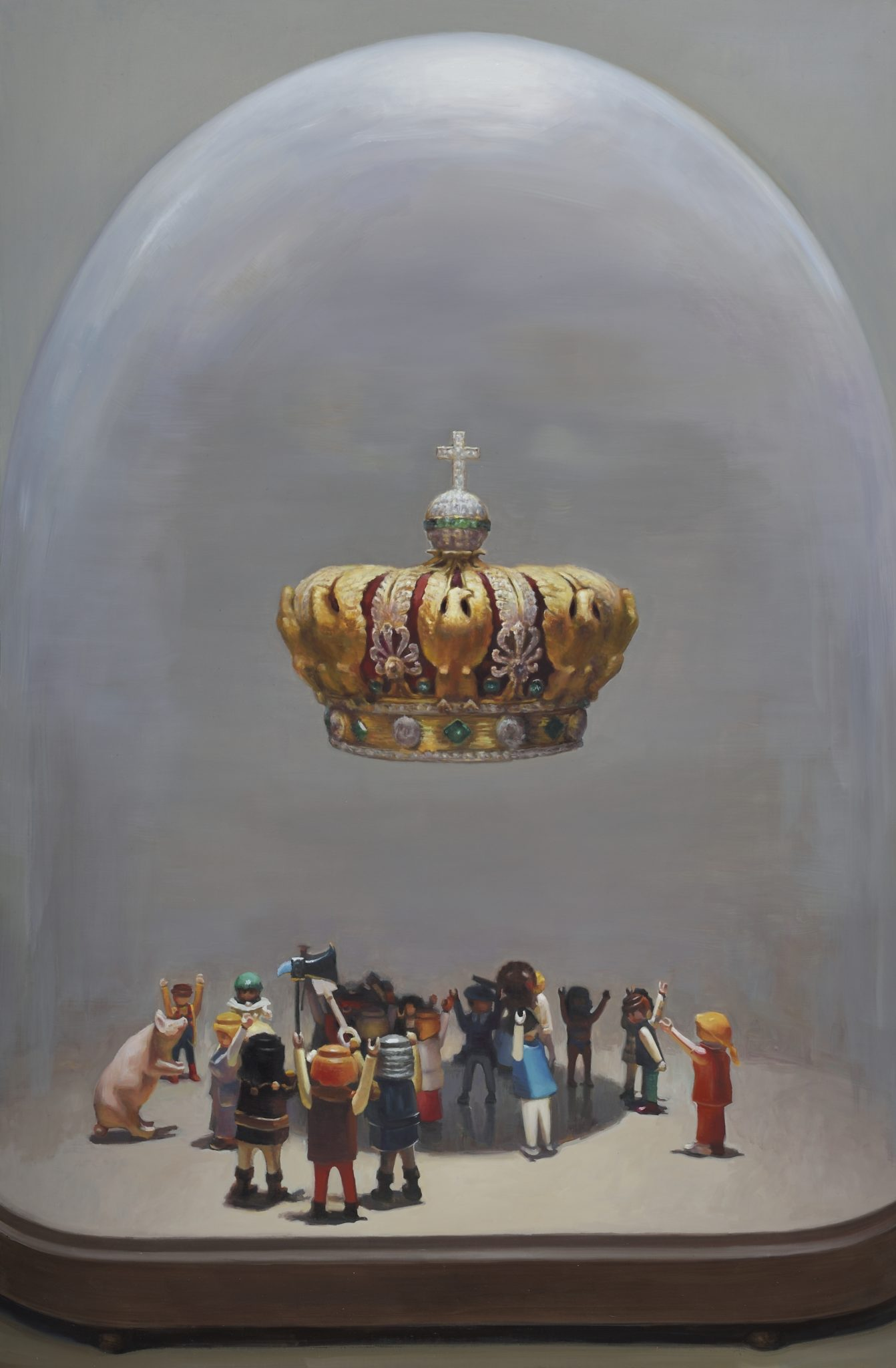 投票,2015,油画,146 x 97 cm