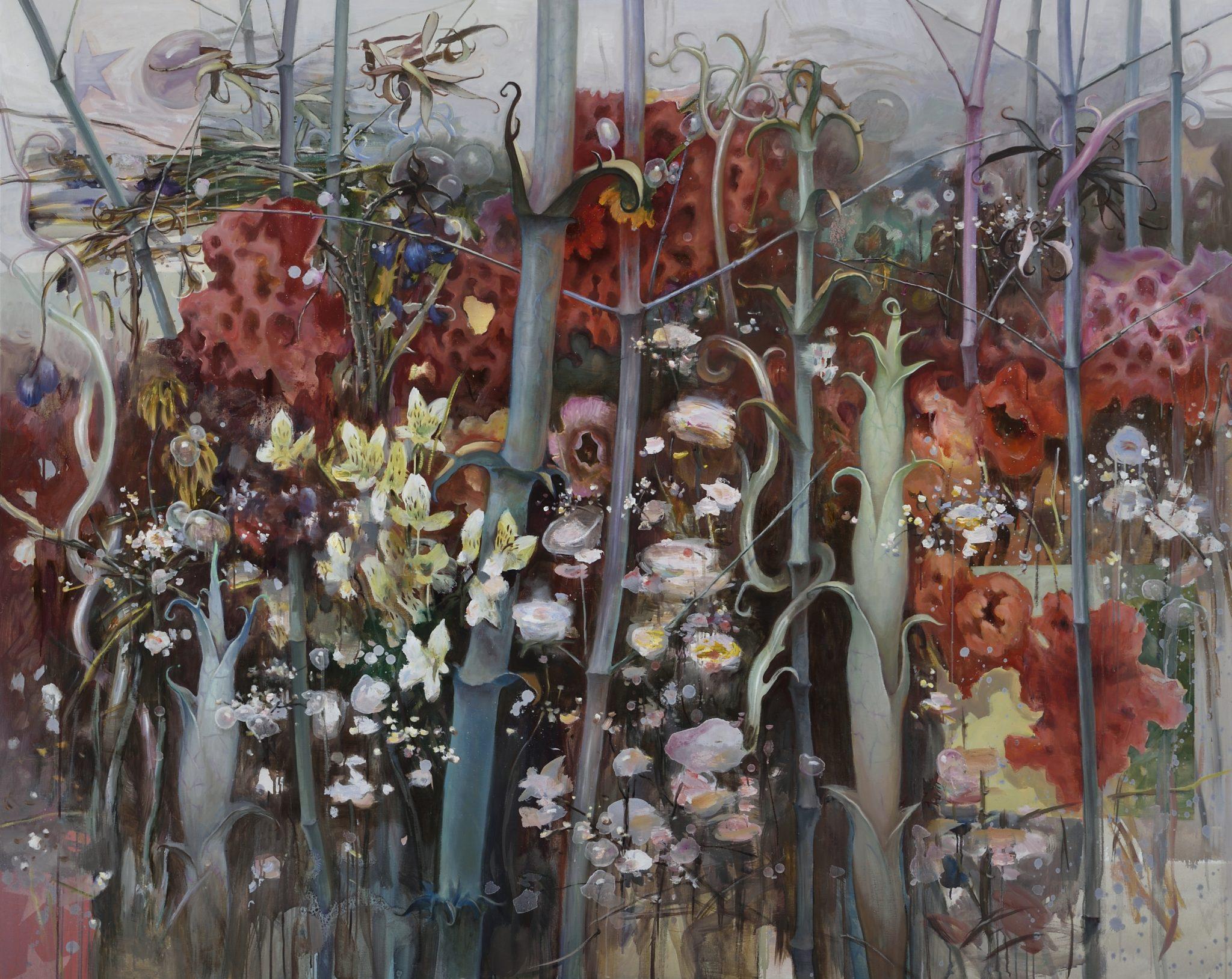 竹苑,2015,油画,160 x 195 cm