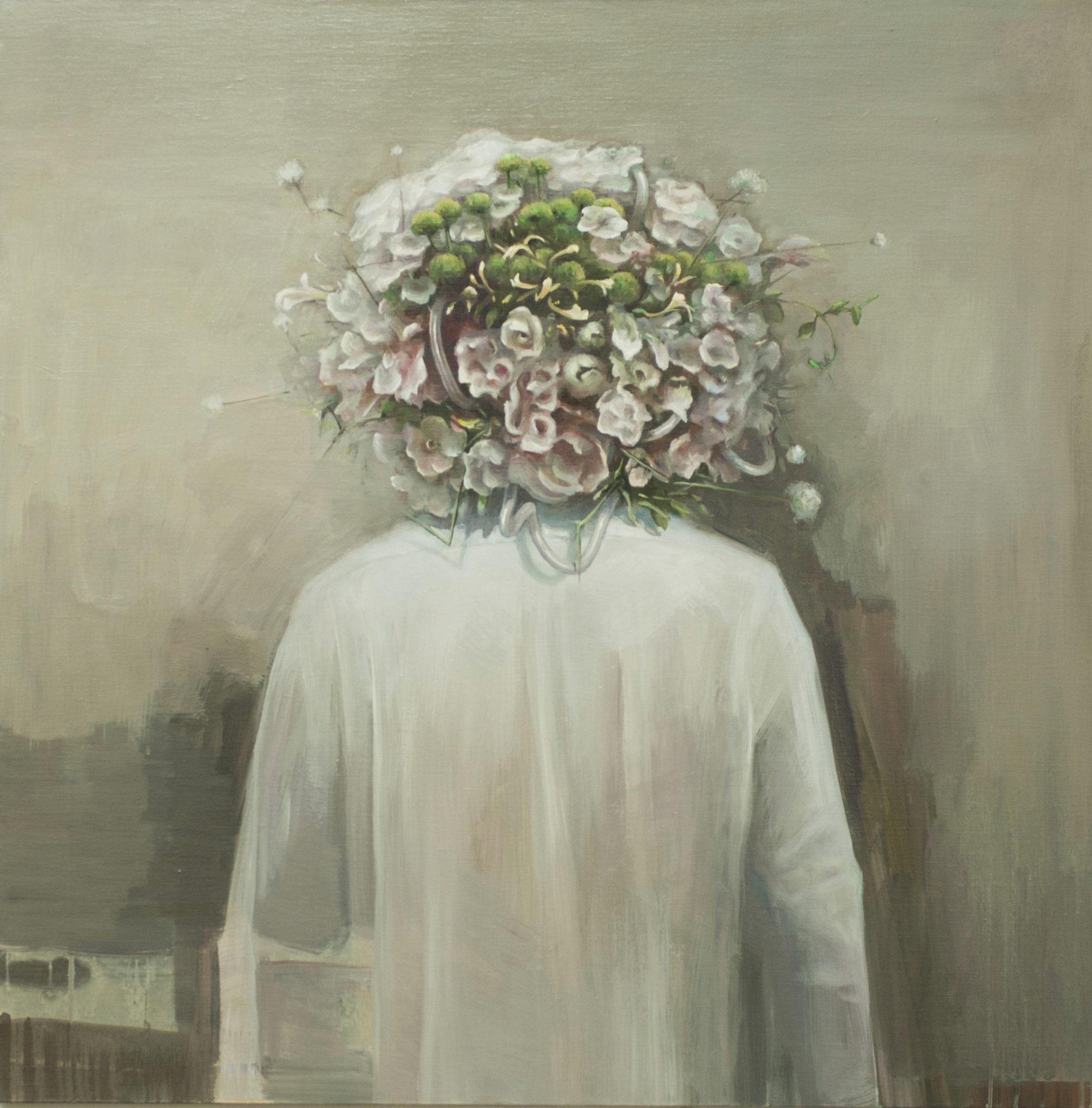 胸像 NO.11,2013,油画,100 x 100 cm