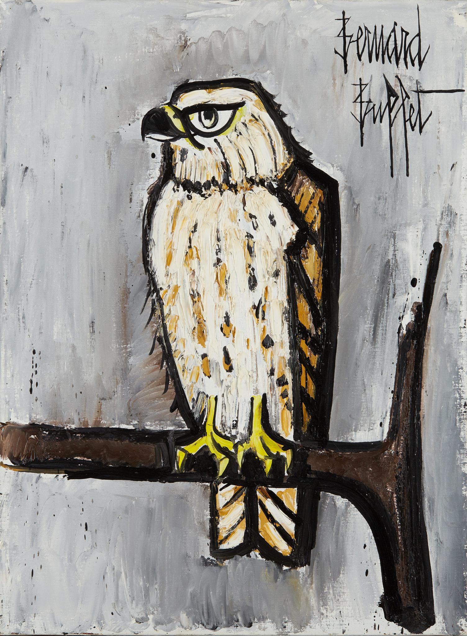 GALERIE JANY JANSEM Bernard BUFFET «Busard», 1995 Huile sur toile 73 x 54 cm Courtesy Galerie Jany Jansem