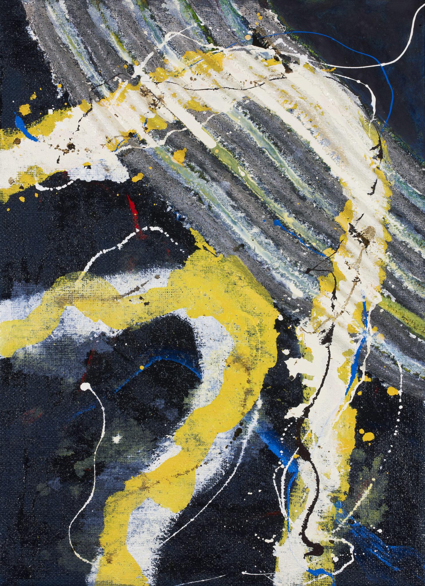 ARTISYOU Tsuyoshi MAEKAWA «Work 130918», 1994 Huile et jute sur toile 73 x 100 cm Courtesy galerie Artisyou