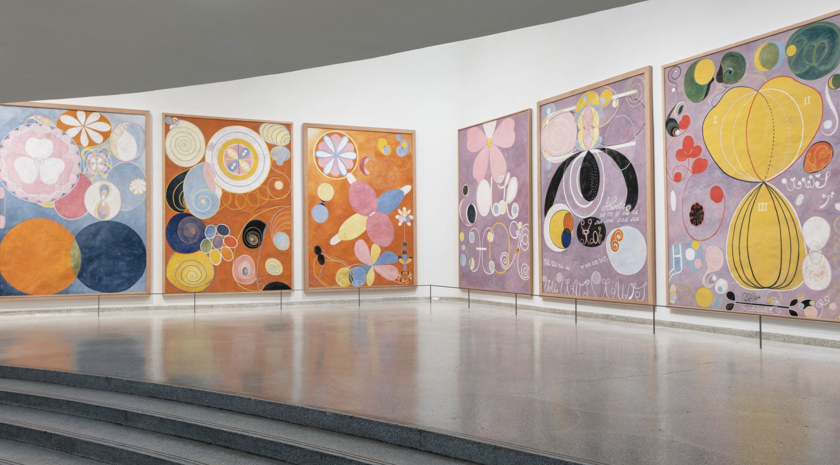 Installation view: Hilma af Klint: Paintings for the Future, Solomon R. Guggenheim Museum, New York, October 12, 2018–April 23, 2019. Photo: David Heald