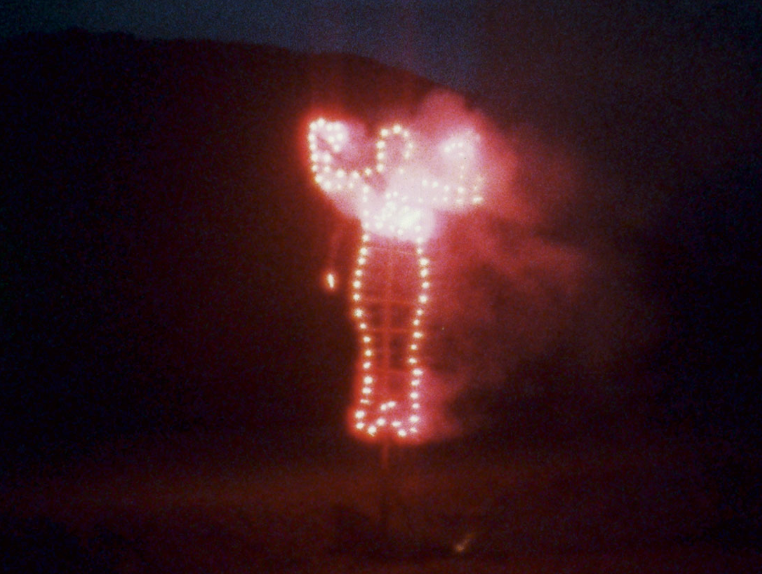 Anima, Silueta de Cohetes (Firework Piece) 1976 Ana Mendieta Film Super-8. © The Estate of Ana Mendieta Collection, LLC. Courtesy Galerie Lelong, New York