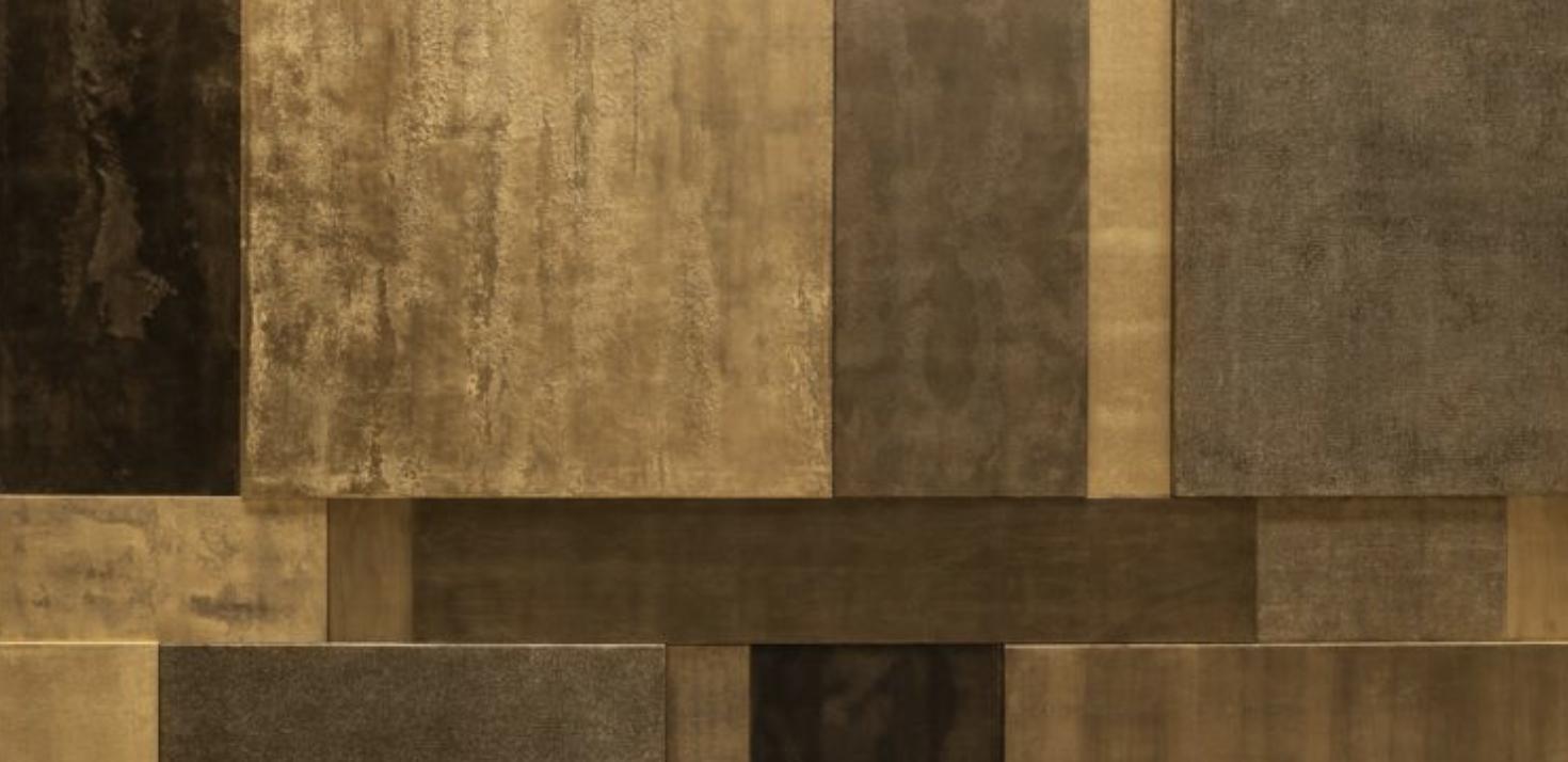 Pierre Bonnefille, Mural Composition Bronze 02 (détail)  285 x 285 cm