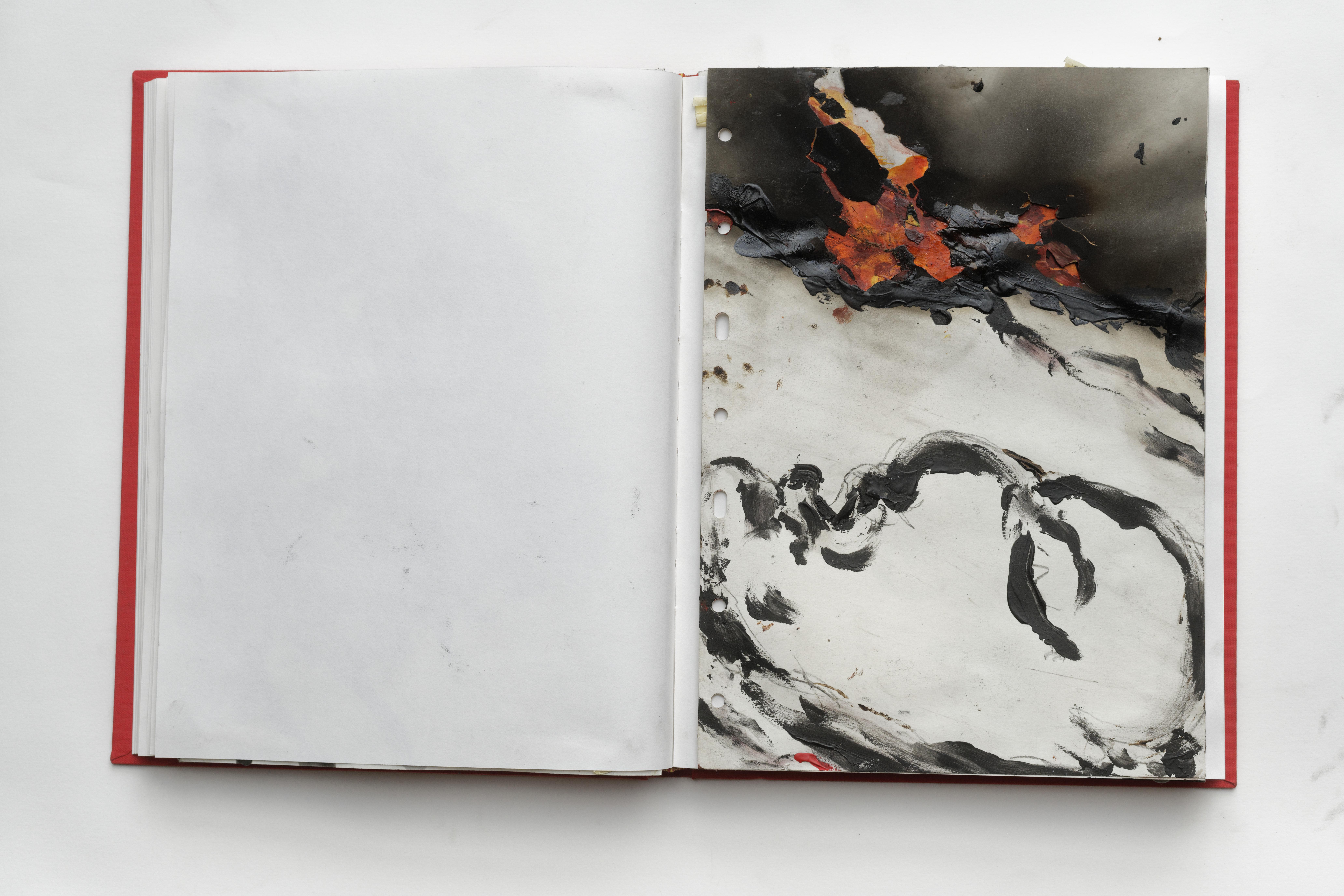 Jean-Paul Marcheschi, Les livres rouges, Étude pour l'Oiseau de feu, 1995 © Stephan Meyer