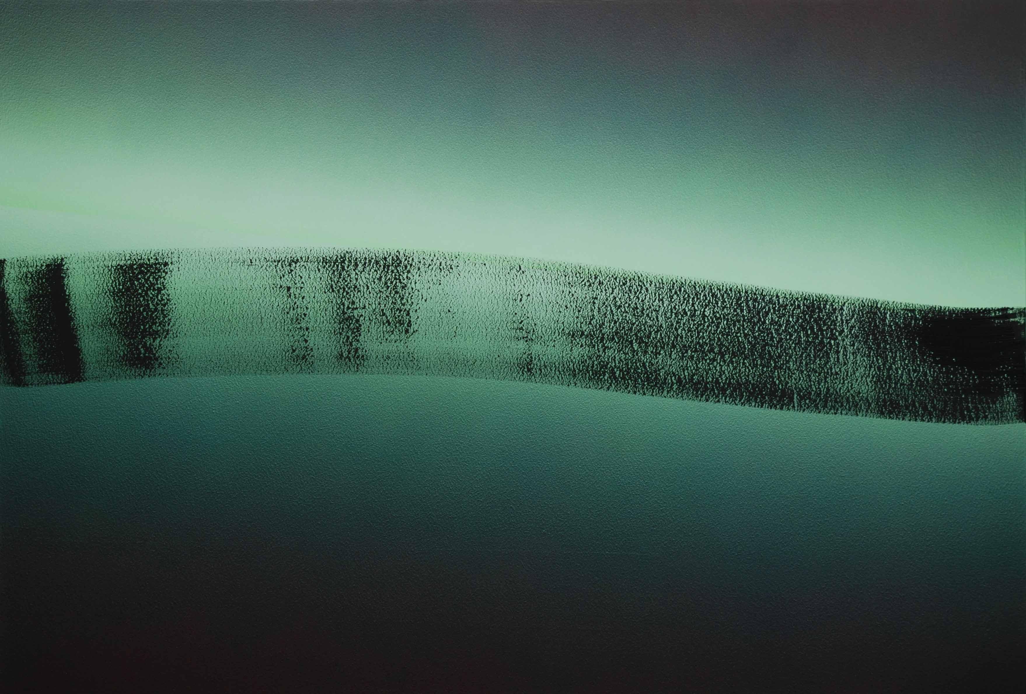 Dan, évolution 1, acrylique sur toile 89 x 130 cm, 2016