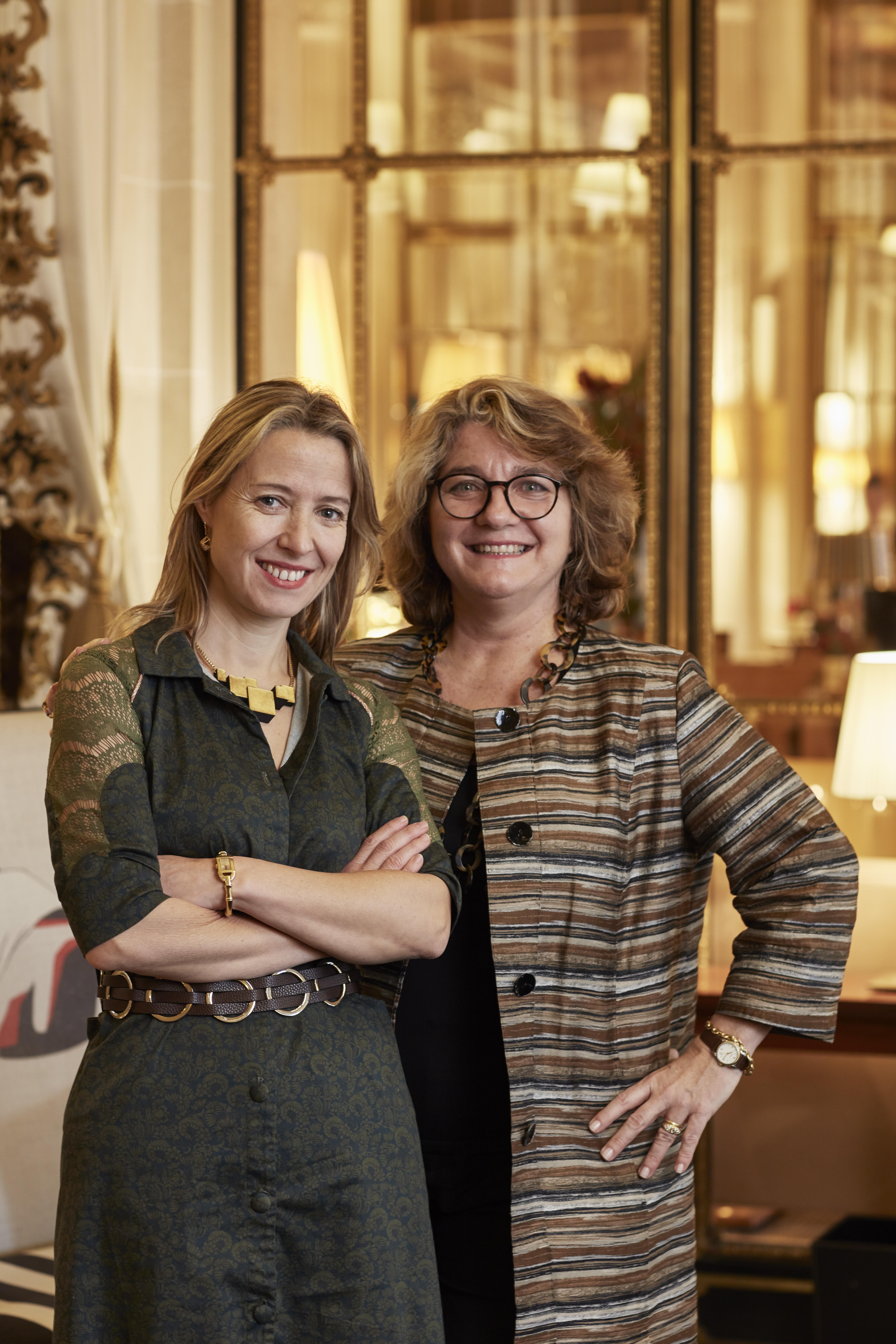 Marie-Bérangère Gosserez et Florence Guillier-Bernard au Meurice, Paris. Photo : Thierry Depagne